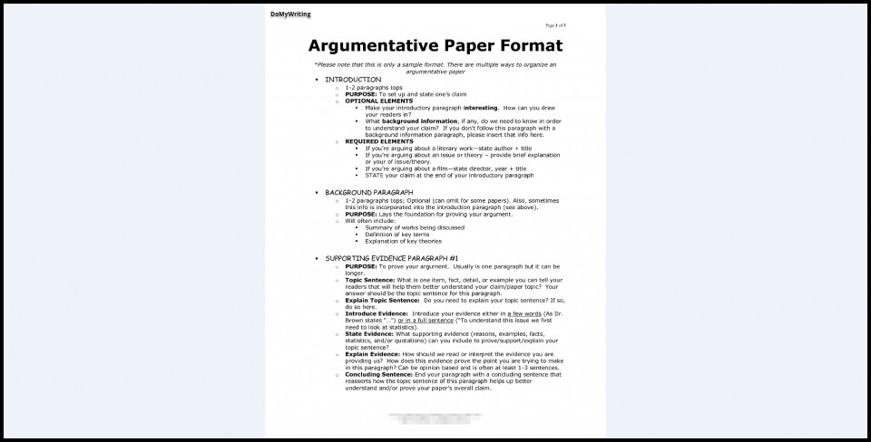 008 Essay Example Argumentative Best Format Template Outline Sample Pdf 960