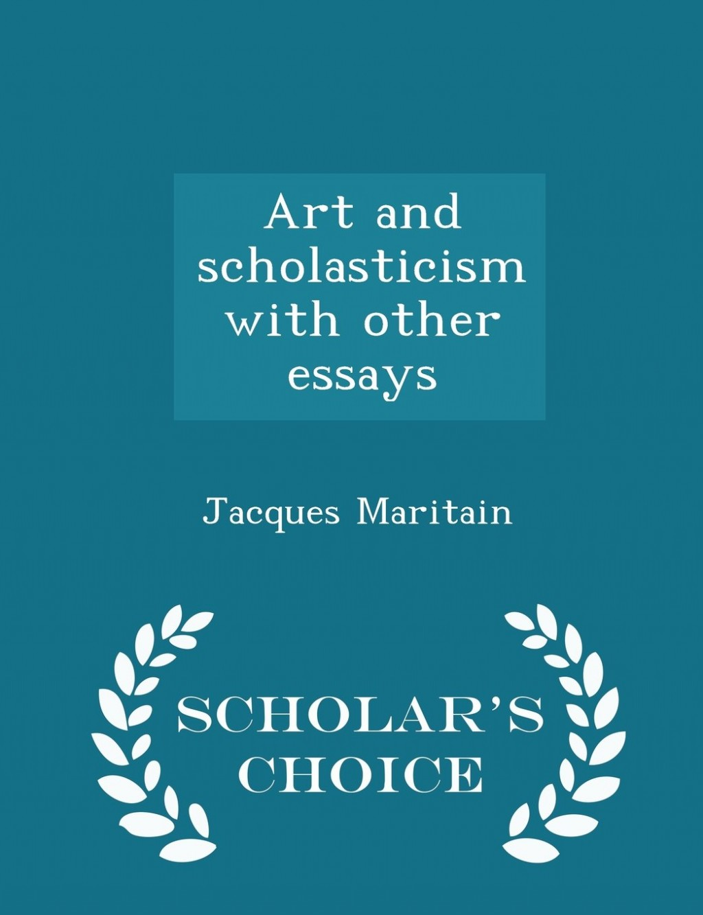 008 Essay Example Art And Scholasticism With Other Essays 61jp7 Impressive Large