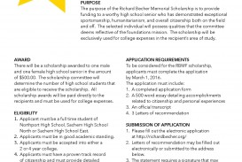 008 Essay Example Becher Scholarship Form Page 2 Scholarships For Juniors In High School Stunning No 320