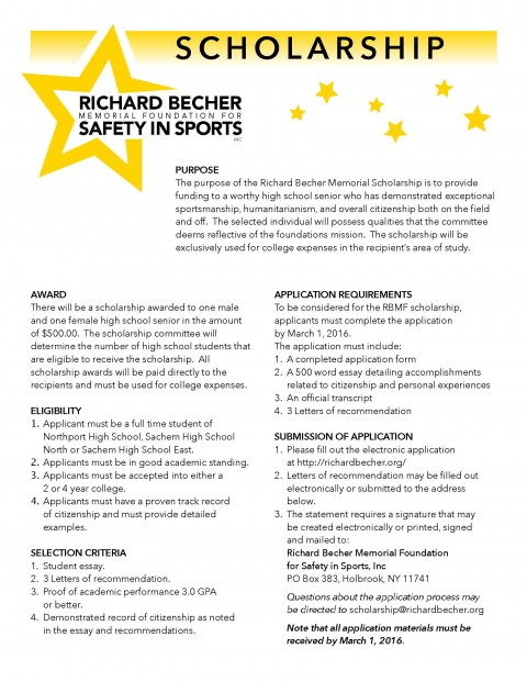 008 Essay Example Becher Scholarship Form Page 2 Scholarships For Juniors In High School Stunning No 480