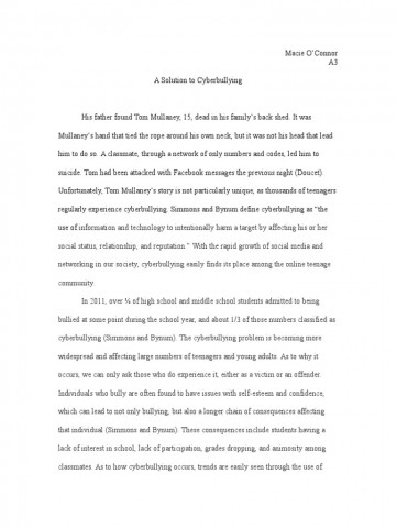 008 Essay Example Bullying Problem Solution Cyberbullying Communication How To Stop In Schools High School Avoid At Deal With Ways Prevent Awful Topics Cyber Titles Persuasive Ideas 360