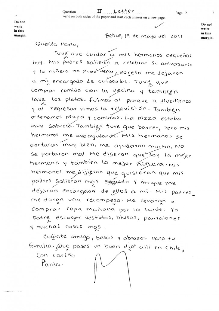 008 Essay Example Csec June2011 Paper2 Sectionii Letter Pg2 Ex Translate To Staggering Spanish My Into What Does Mean In 728
