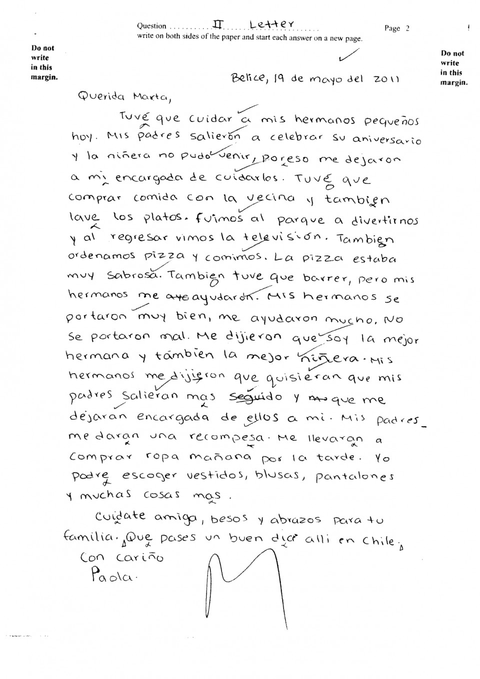 008 Essay Example Csec June2011 Paper2 Sectionii Letter Pg2 Ex Translate To Staggering Spanish My Into What Does Mean In 960