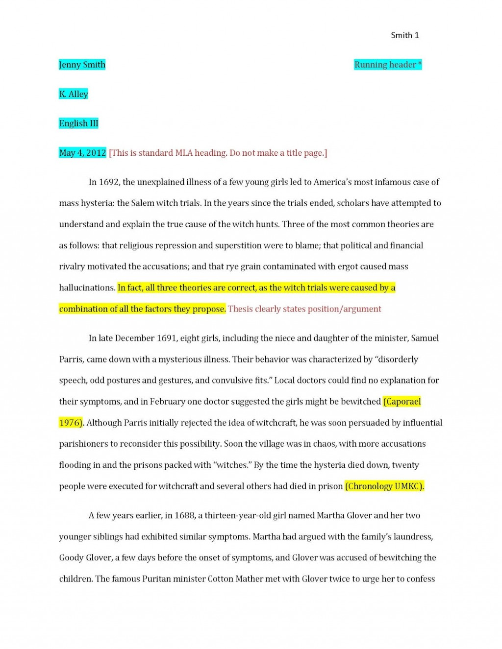 008 Essay Example Examplepaper Page 1 How To Cite Archaicawful An Unpublished Paper In Apa Mla Style Anthology Large