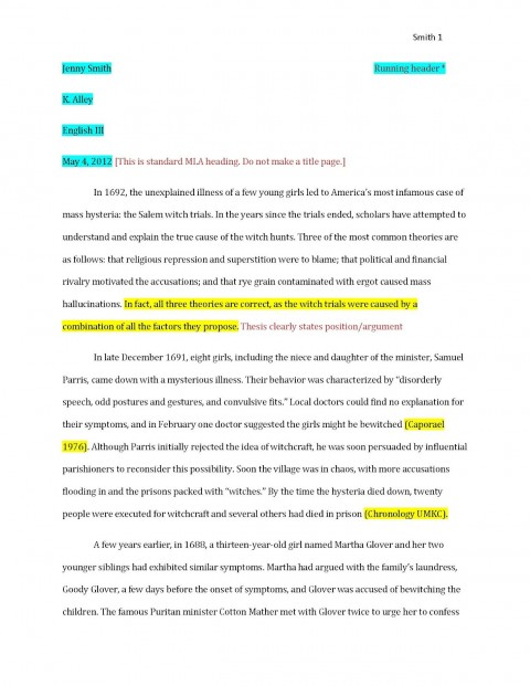 008 Essay Example Examplepaper Page 1 How To Cite Archaicawful An Mla In A Book 8th Edition 480