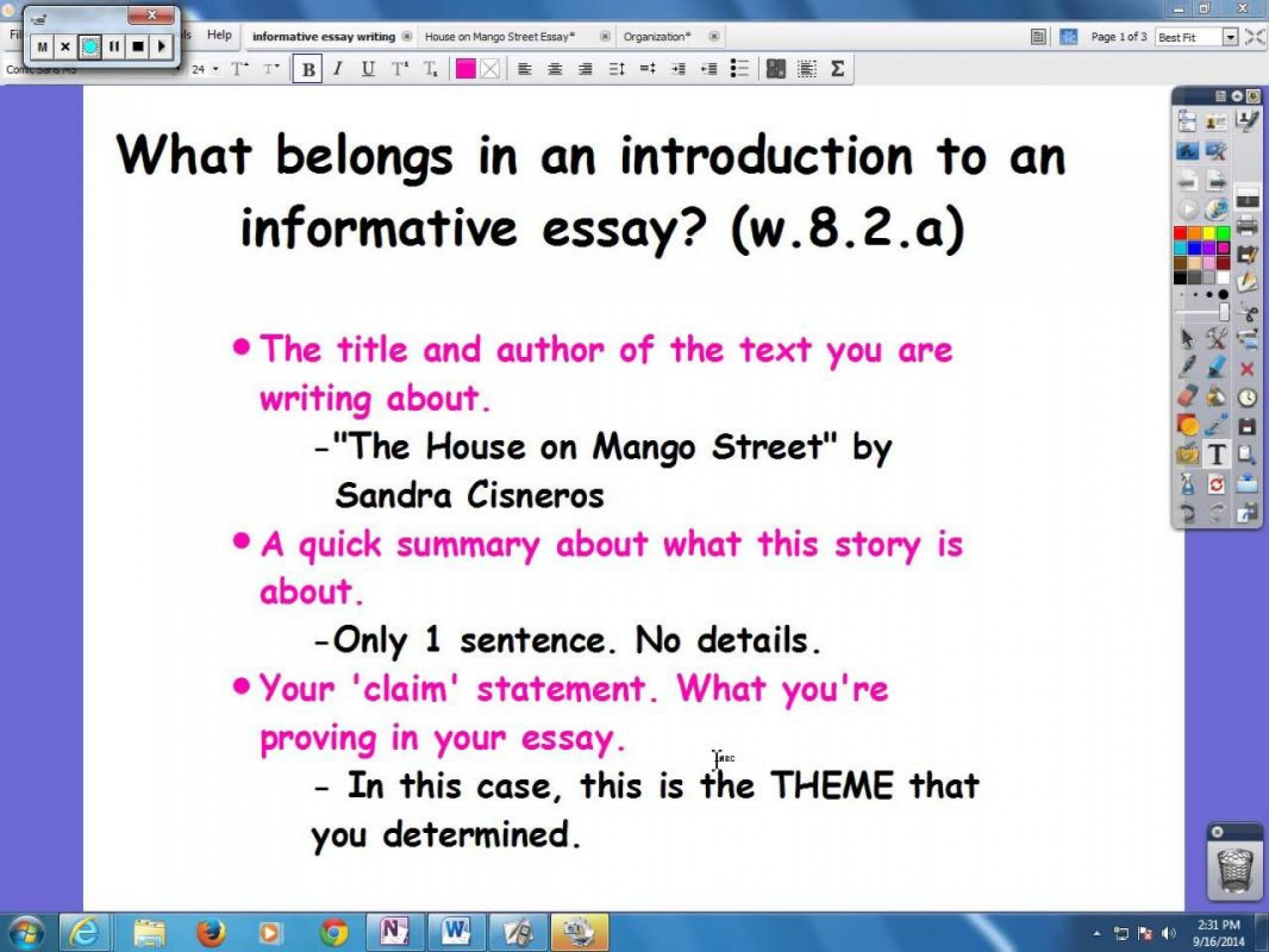 008 Essay Example How To Write An Informative Maxresdefault What Top Is The Main Purpose Of 1920