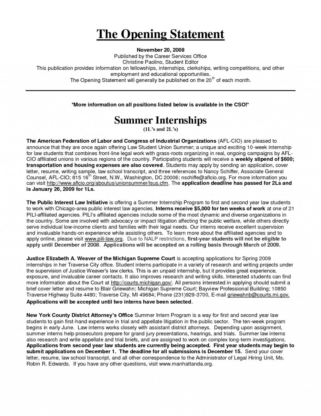singular internship essay example