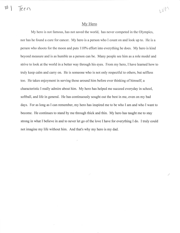my role model speech in english