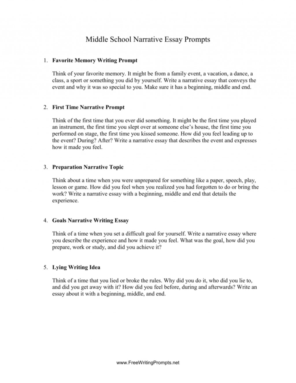 008 Essay Example Narrative Prompts 008000920 1 Fascinating Writing 5th Grade Common Core 4th Large