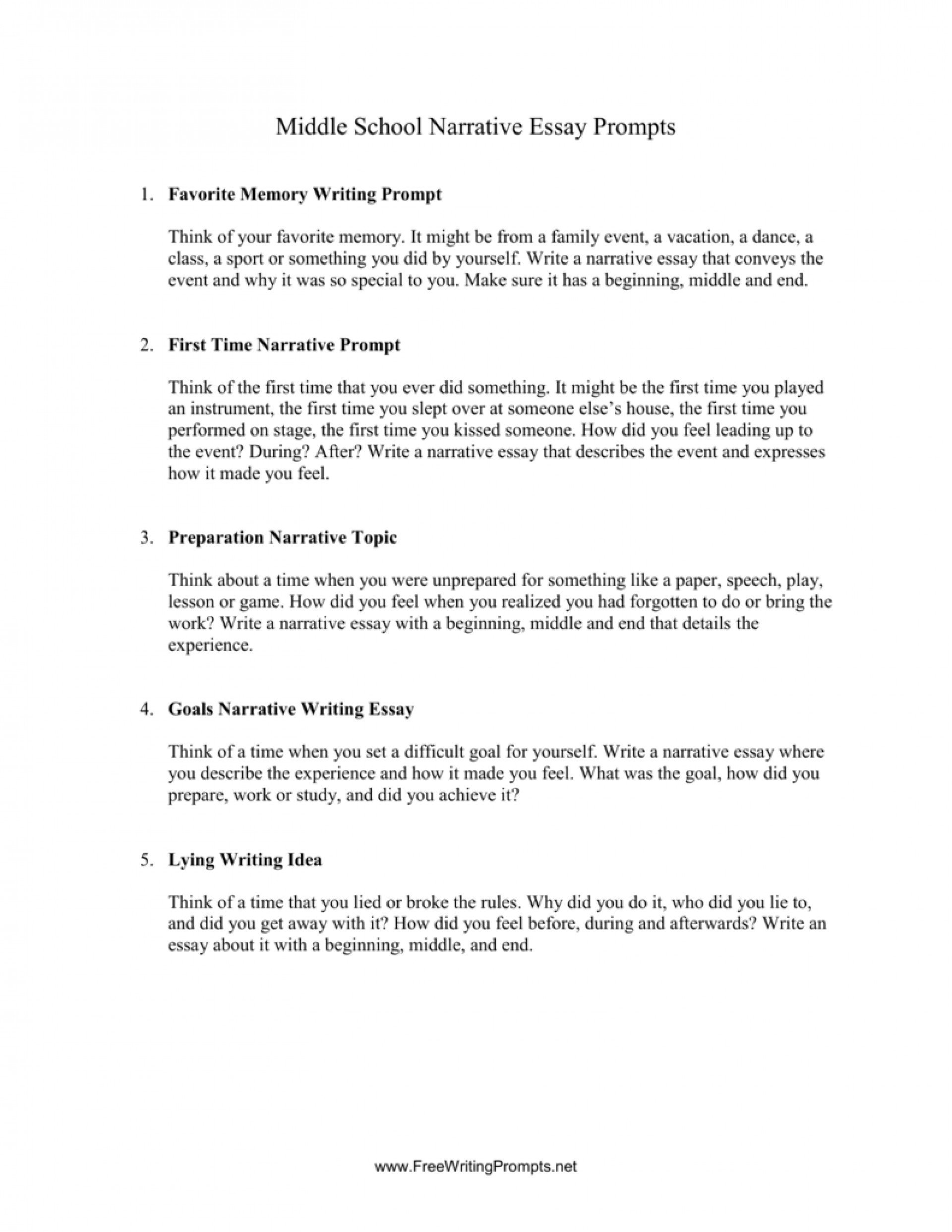 008 Essay Example Narrative Prompts 008000920 1 Fascinating Writing 5th Grade Common Core 4th 1920