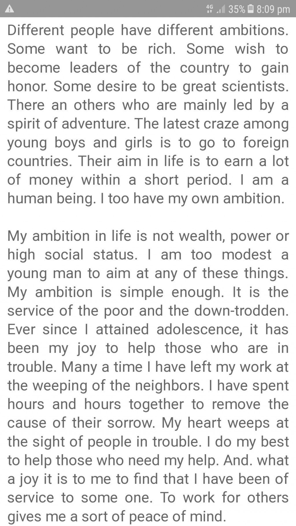 008 Essay Example Of Ambition Awesome On Lady Macbeth's Short My Life To Become A Pilot Large