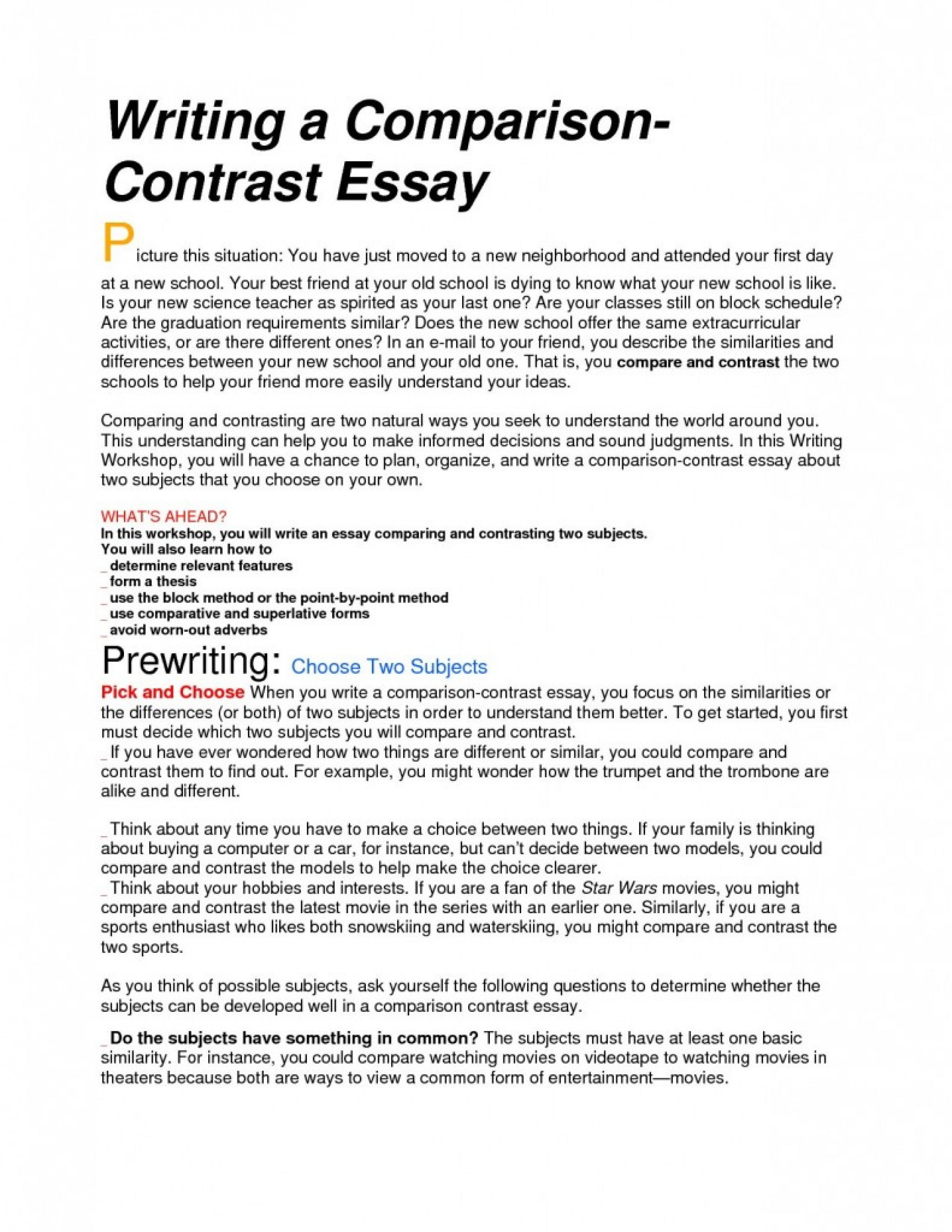 008 Essay Example Papers Examples Argumentative Topics For High School Funny College Stu Creative Students Sample Compare And Surprising Contrast 1920
