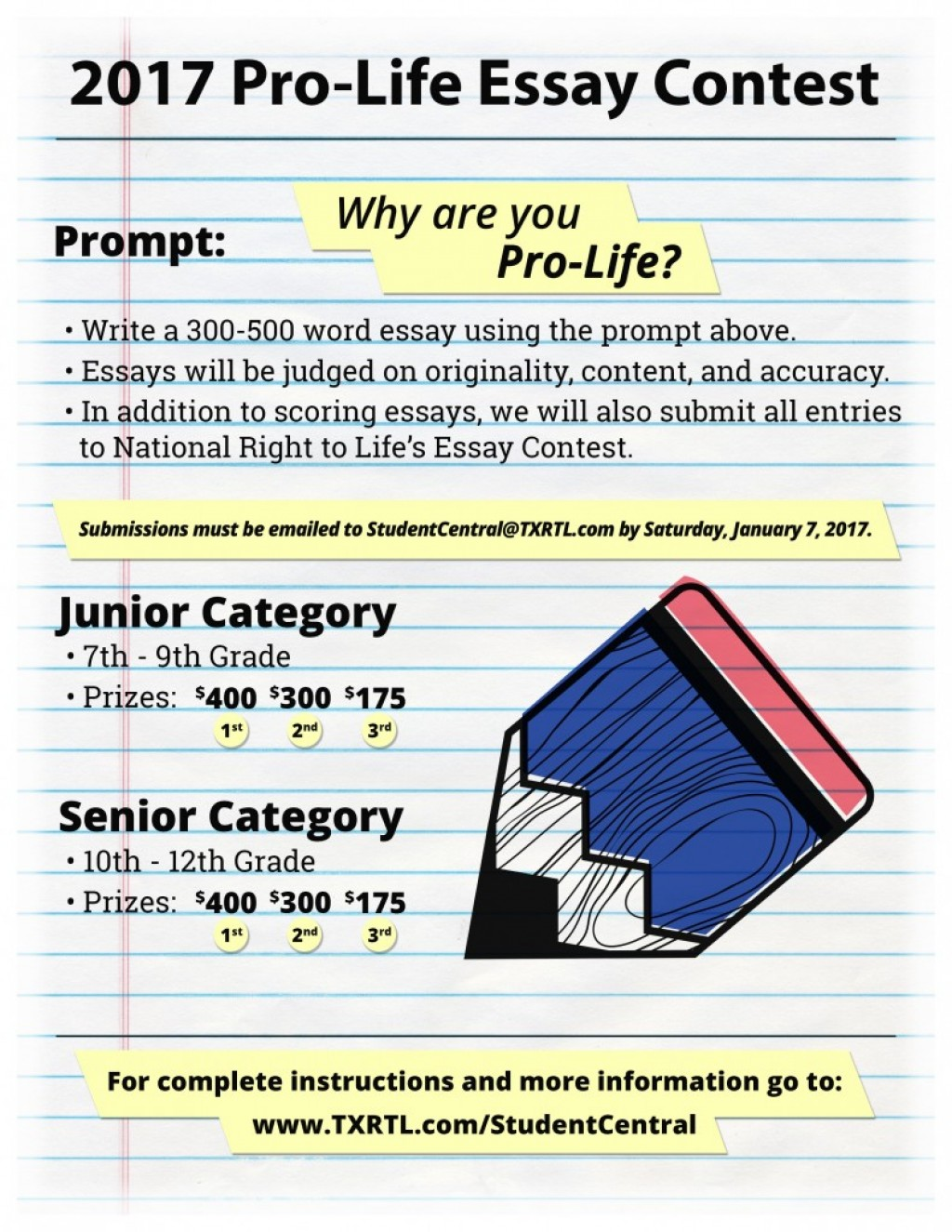008 Essay Example Pro Life Contest Staggering 2017 Online Competition India Writing High School Optimist International Large