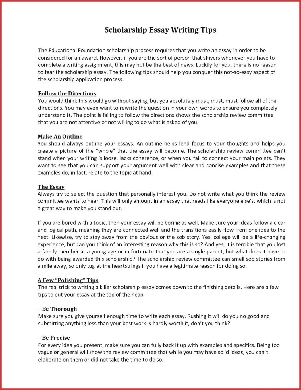 Scholarship Essays Example - 7+ Free Word, PDF Documents Download | Free & Premium Templates