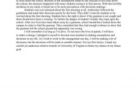 virginia tech college essay