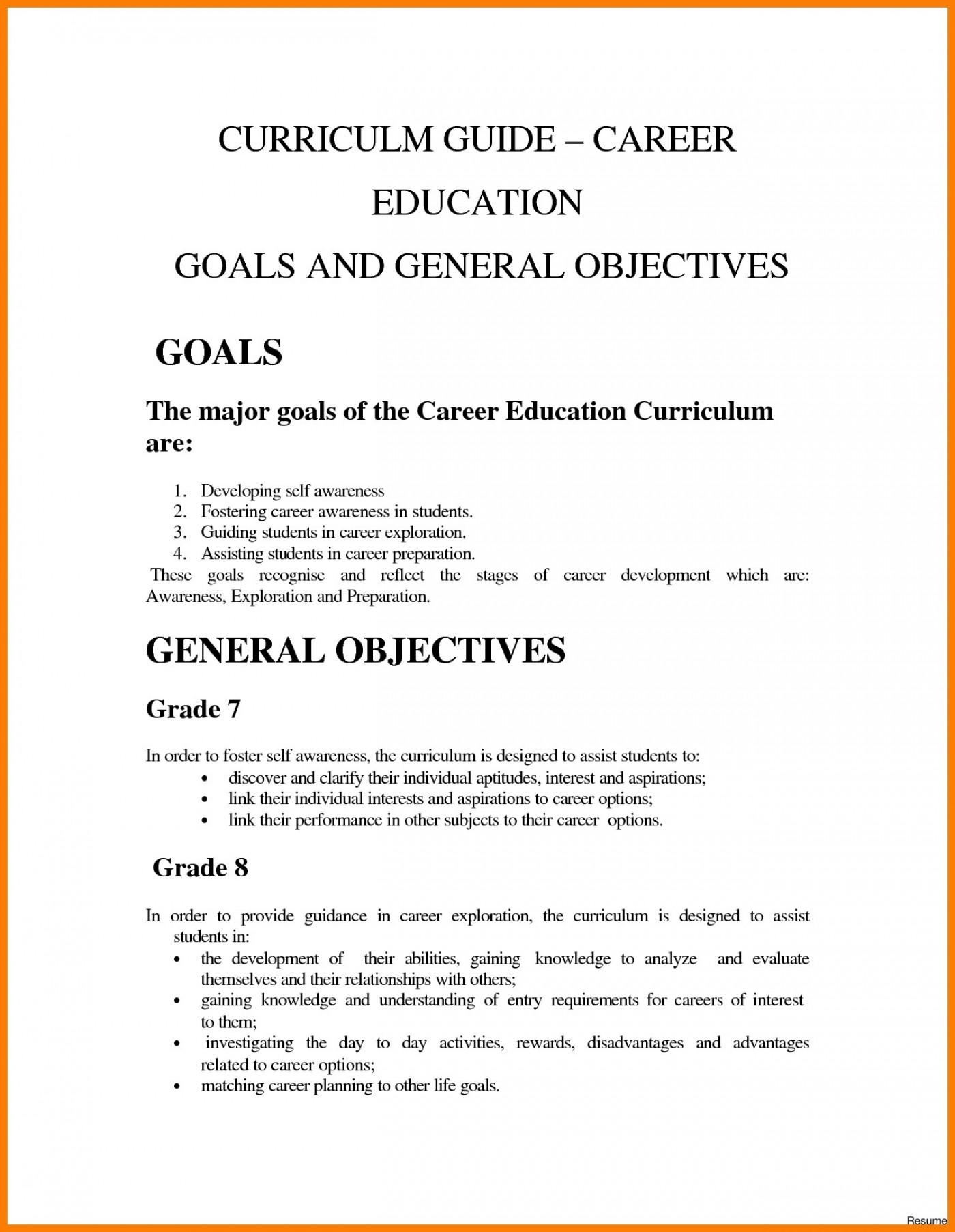 Academic goals essay examples