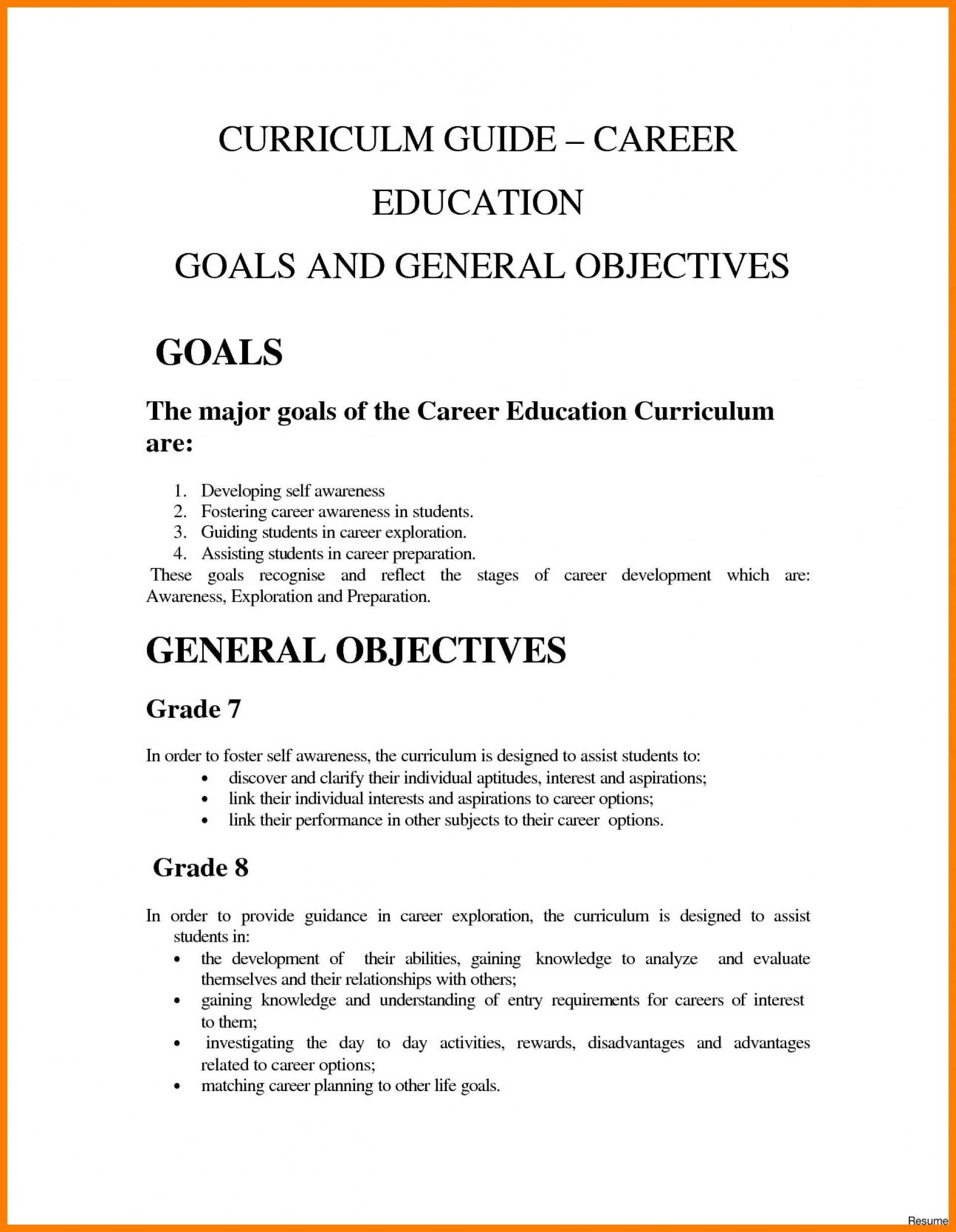 008 essay example work goals and objectives examples
