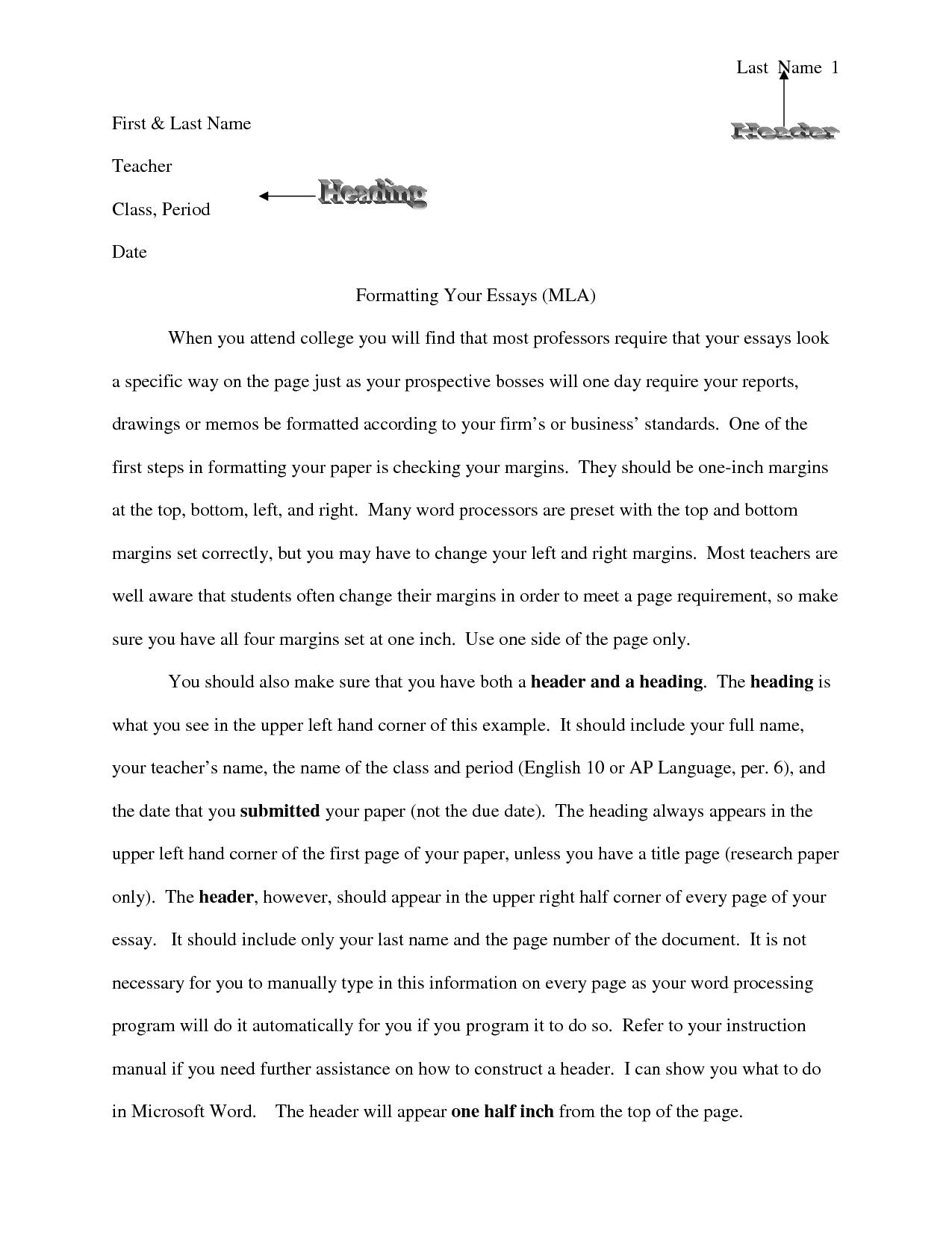 008 Essay Header Format Nnftftofsn Phenomenal Mla Paper Margins Full