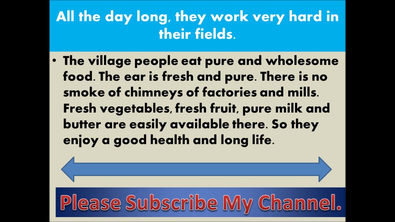 008 Essay Life In Village Maxresdefault Impressive A On Indian English Full