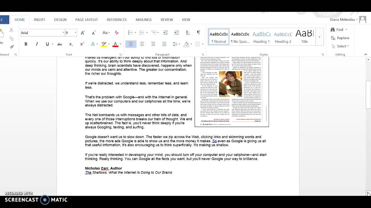008 Essay On Is Google Making Us Stupid Example Article Response To Summary Examples Of Analysis Persuasive About Topics Reasons Why Nicholas Carr Student 6th Archaicawful Audio And Pdf Full