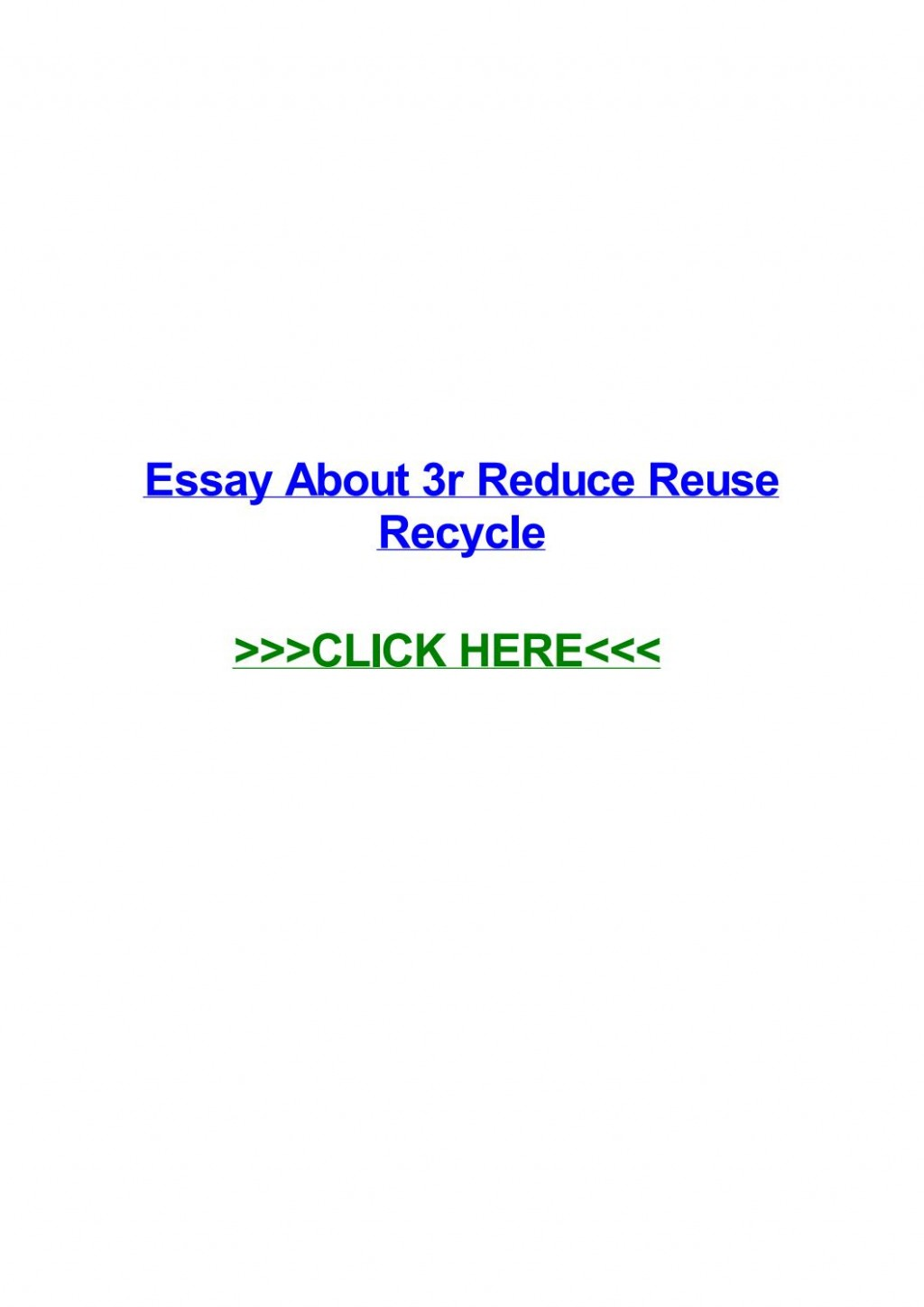 008 Essay On Reduce Reuse Recycle Example Page 1 Stirring Short In Hindi English Large