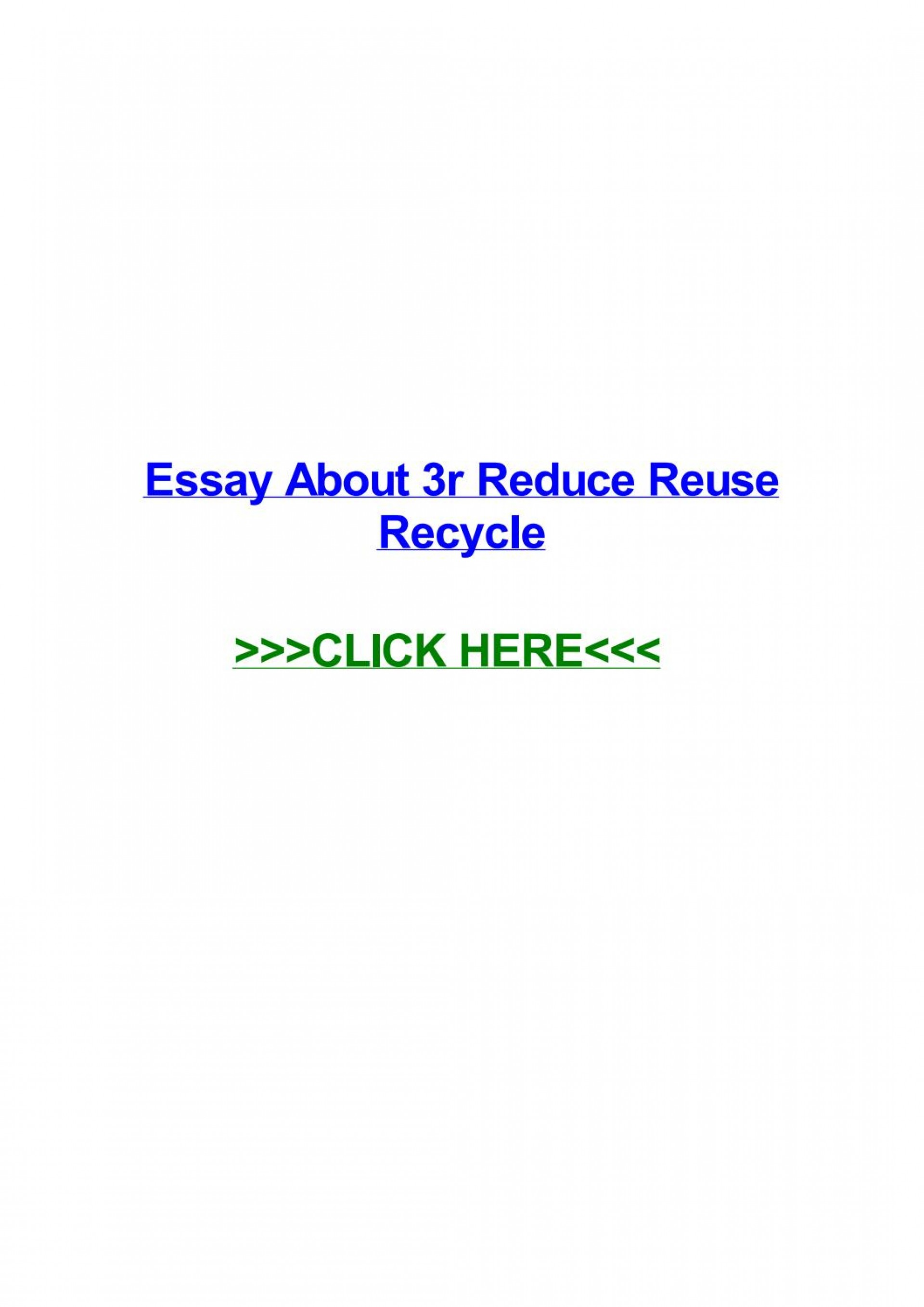 008 Essay On Reduce Reuse Recycle Example Page 1 Stirring Short In Hindi English 1920