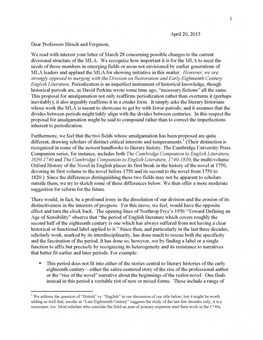 008 Essay Proposal Response To Marianne Hirsch Margaret Ferguson Rev Final Copy Page 1 Top Ideas Topics Topic