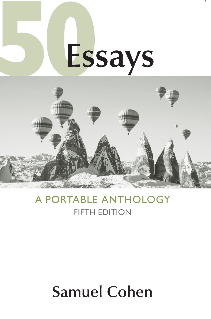 008 Essays Essay Example Shocking 50 A Portable Anthology 4th Edition Answers Pdf Free Samuel Cohen Full