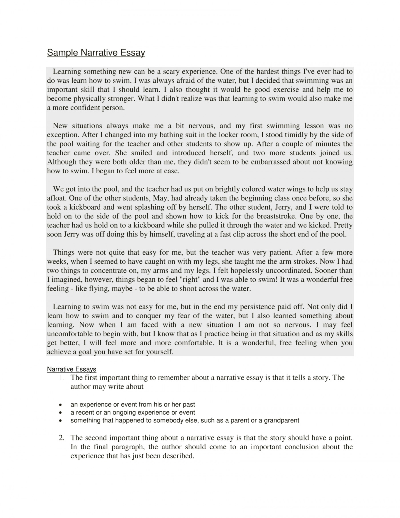 008 Example Of Narrative Essay Beneficial Examples Samples Writing Ppt Brown Achievement The Martial Ars Competit About Being Judged Quizlet 4th Grade Someone Else Step Imposing A Introduction Format Love 1400
