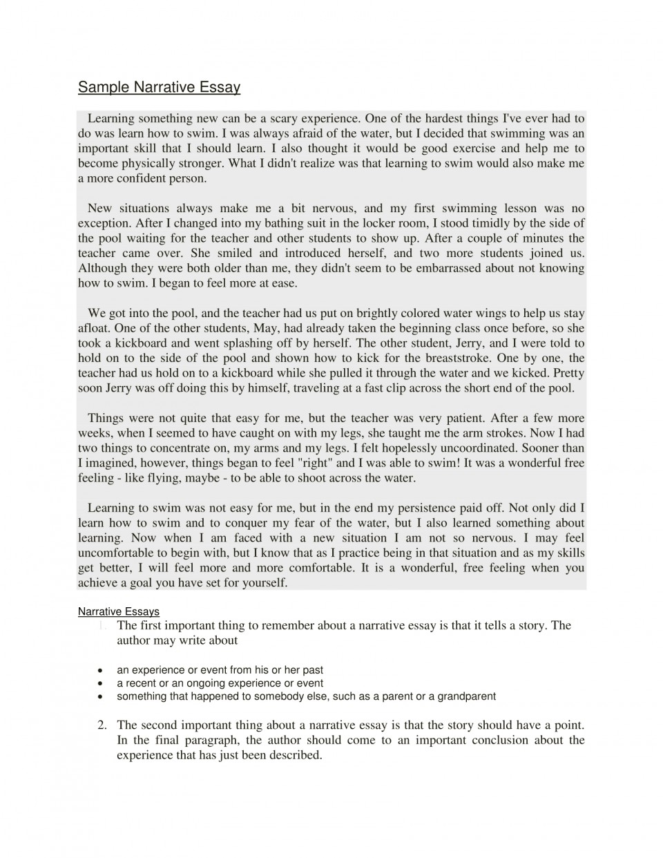 008 Example Of Narrative Essay Beneficial Examples Samples Writing Ppt Brown Achievement The Martial Ars Competit About Being Judged Quizlet 4th Grade Someone Else Step Imposing A Introduction Format Love 960