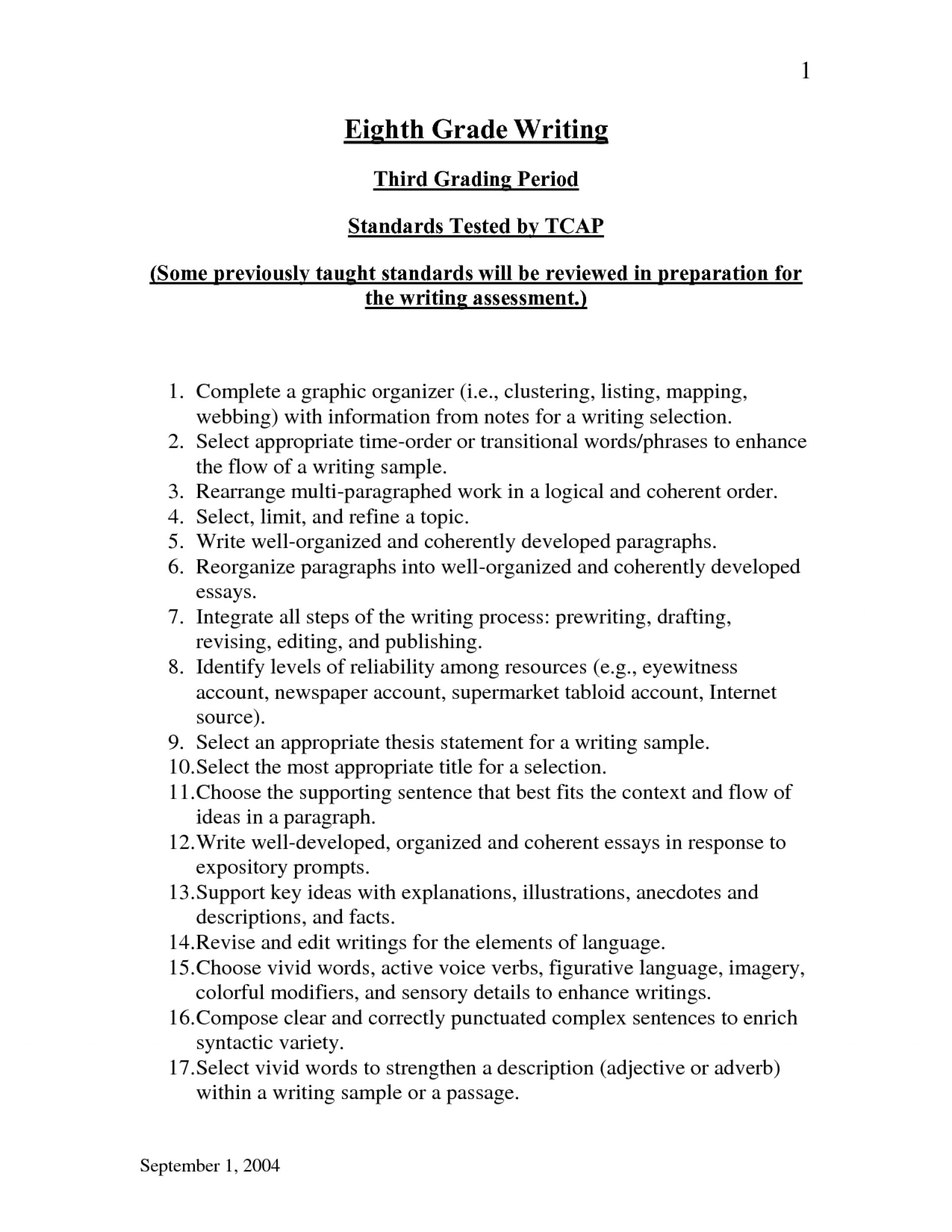 008 Expository Essays 1341145155 Essay Help Stunning Just The Facts Topics Rubric 4th Grade 1920