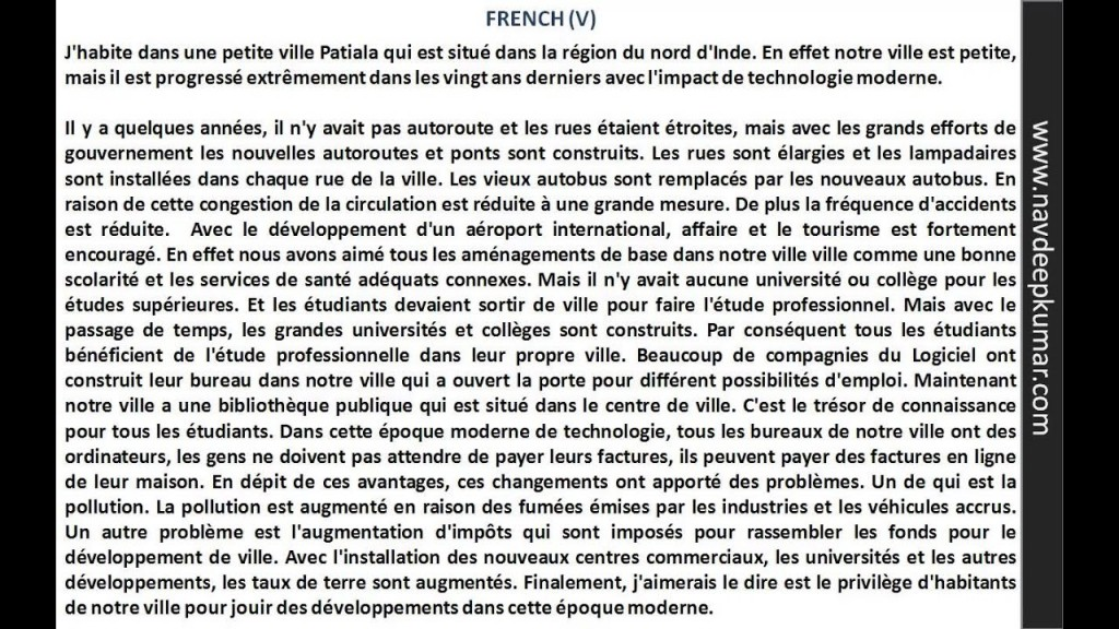 008 French Essay Maxresdefault Exceptional Ap Sample Icse Topics Writer Large