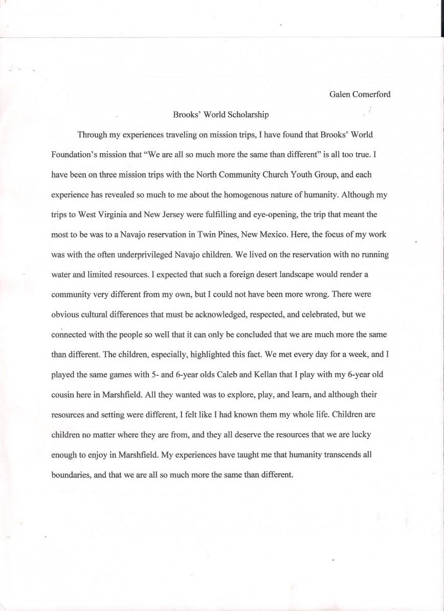 Essay of short story