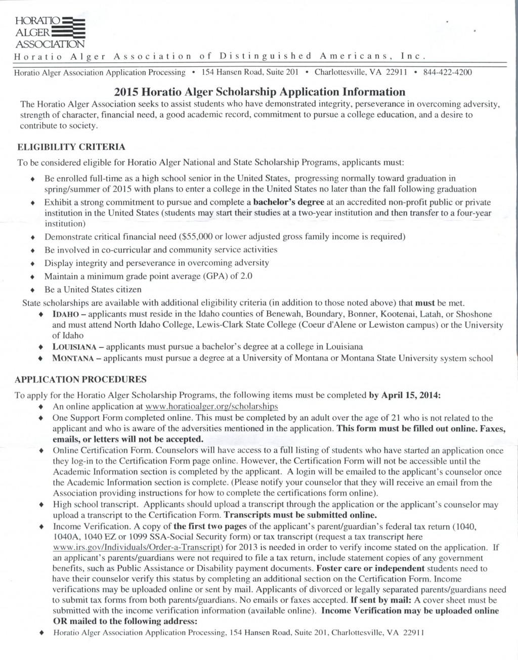008 Horatio20alger20scholarship Essay Example Questbridge Stirring Essays Examples Finalist National College Match Prompts Large