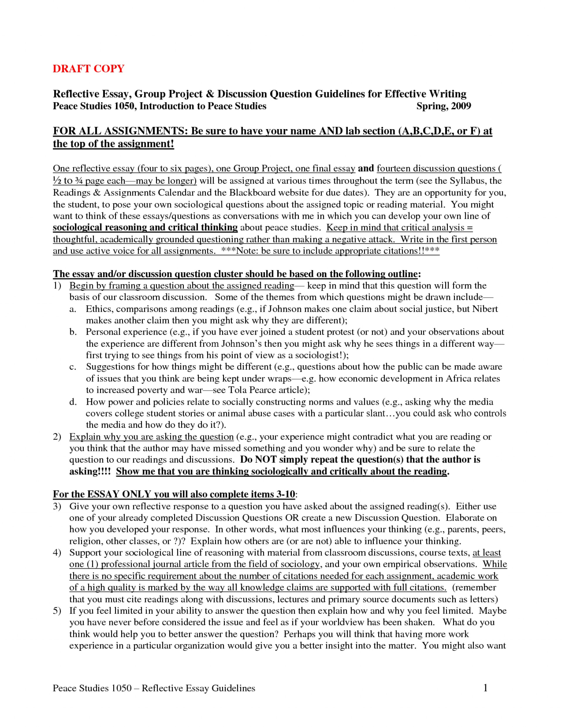 008 How To Start Reflective Essay Introduction Surprising A Write An Example 1920