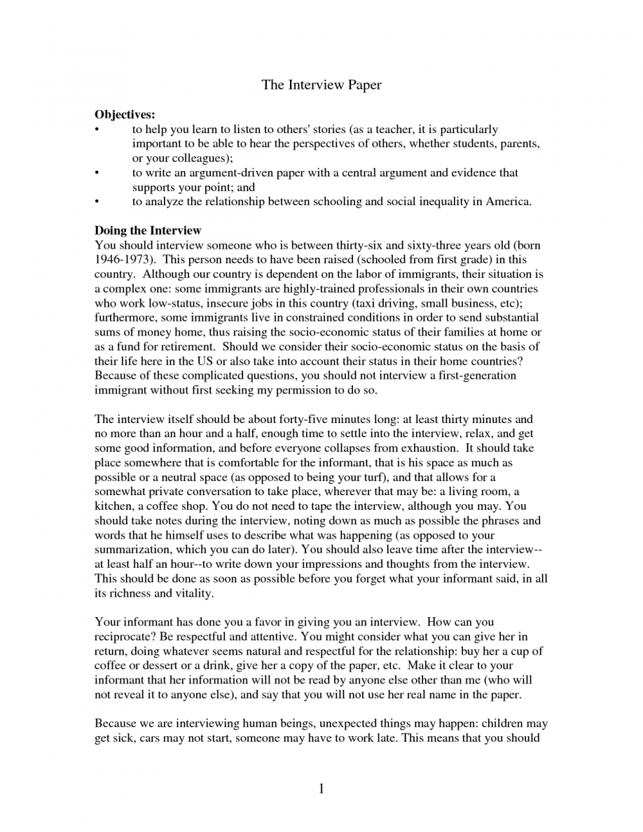 008 How To Write An Interview Essay Example Pics Paper Resume Ideas Cilook In Based On After Apa From For Job Third Person Mla Format Research Excellent Introduction Full