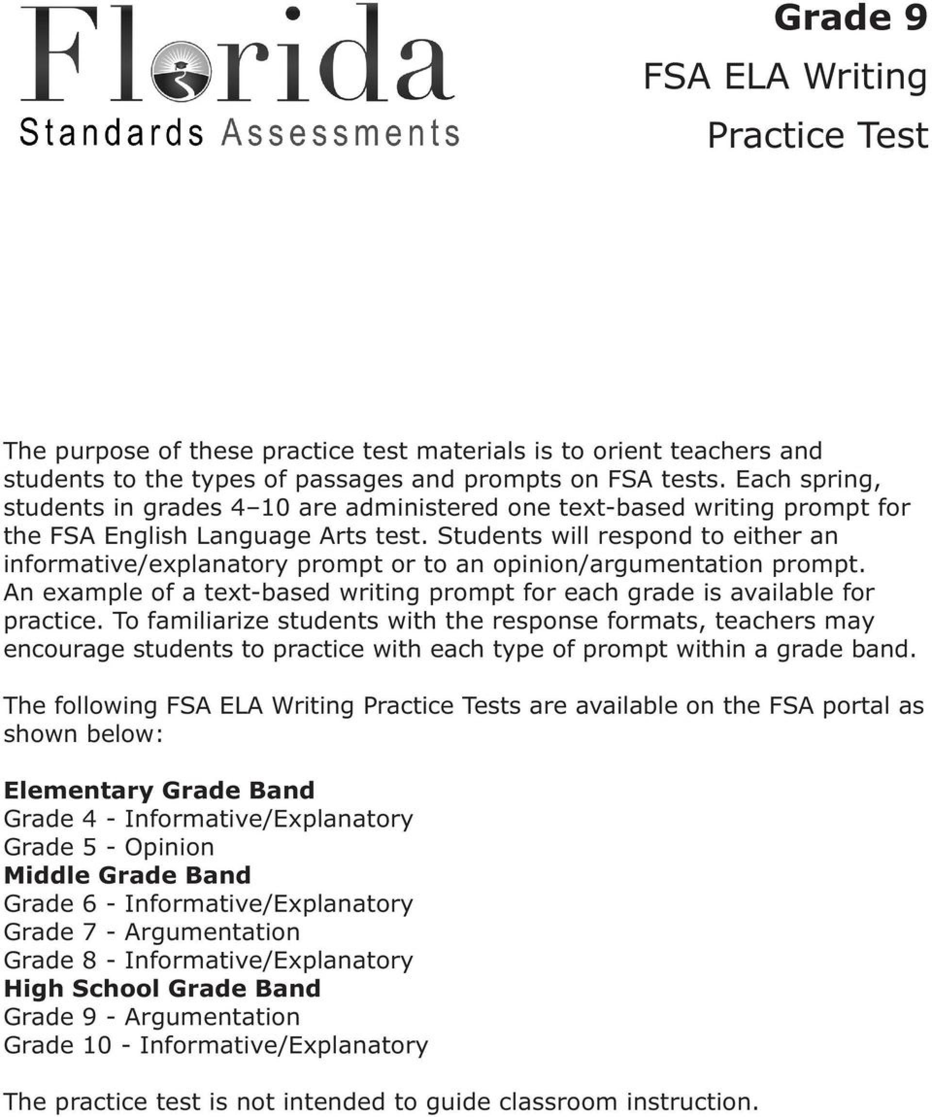 008 Informative Essay Definition Example Grade Fsa Ela Writing Practice Test Pdf Examples P Argumentative Outstanding 1920