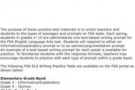 008 Informative Essay Definition Example Grade Fsa Ela Writing Practice Test Pdf Examples P Argumentative Outstanding