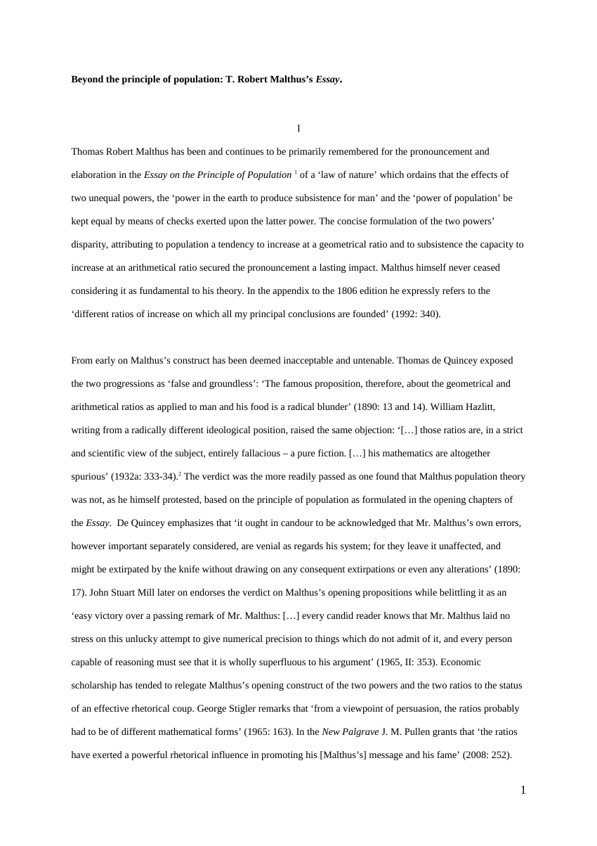 008 Largepreview Thomas Malthus Essay On The Principle Of Population Stupendous After Reading Malthus's Principles Darwin Got Idea That Ap Euro Full