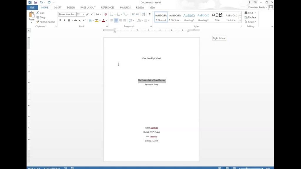008 Mla Essay Cover Page Maxresdefault Unique Format Front Paper First Large