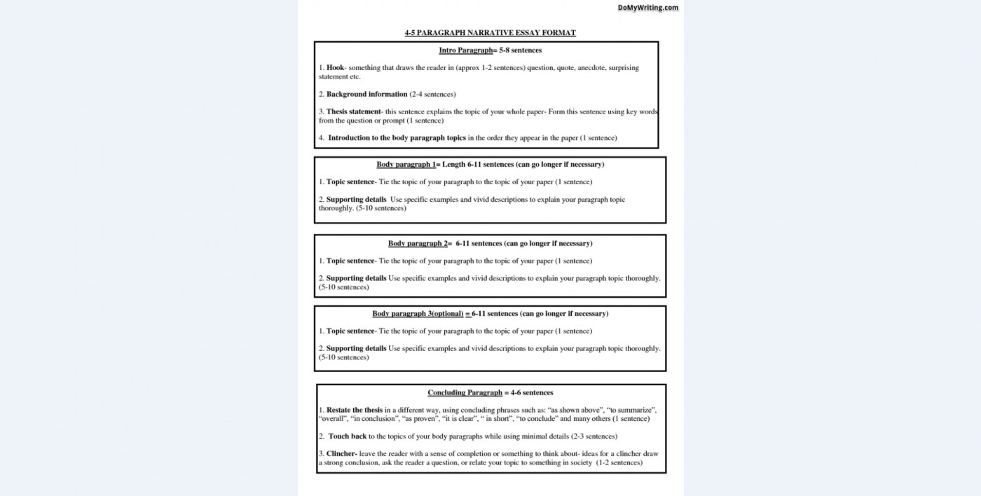 008 Narrative Essay Format Exceptional Rubric Outline Template Pdf Sample 1400