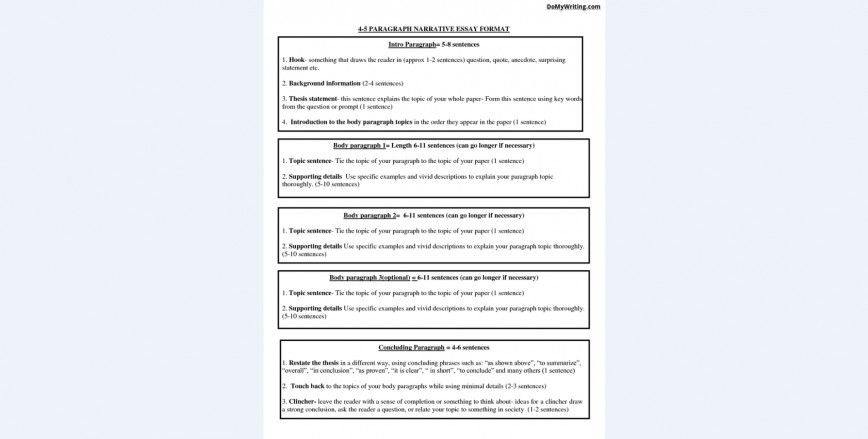 008 Narrative Essay Format Exceptional High School Graphic Organizer 4th Grade Pdf 868