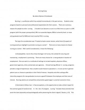 Nursing application essay tips