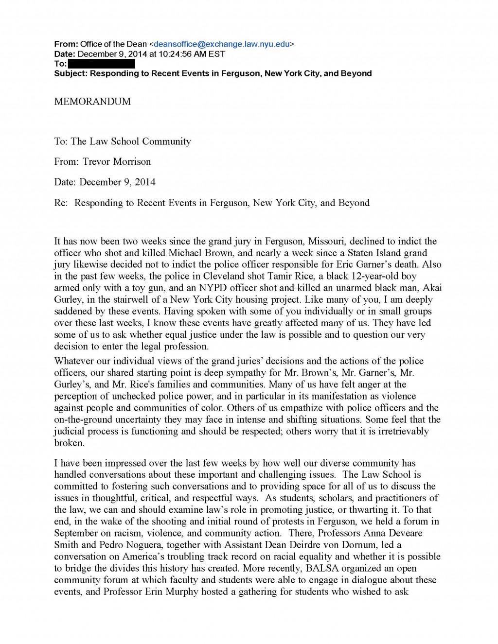 008 Nyu Response 14 Page 1 Essay Example Supplement Wondrous 2017 Large
