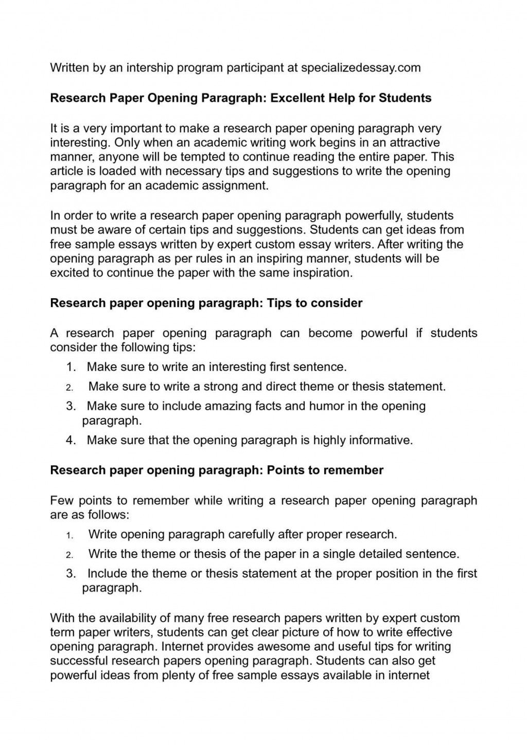 008 P1 Essay Example Opening Sentences For Unique Essays Examples Of Good College Paragraphs Starting Large