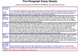 008 Paragraph Essay Sample Example Stirring 5 Free Outline Template Argumentative Pdf Five The Hazards Of Moviegoing