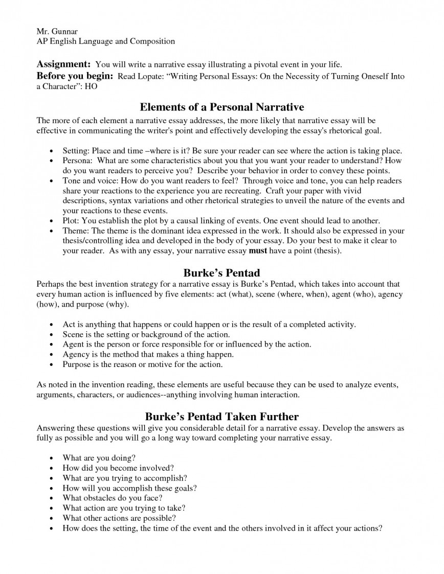 008 Personal Narrative Essay Outline Example Writings And Essays Do The Formidable 5 Paragraph Sample Examples