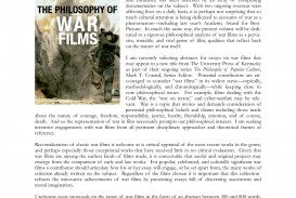 008 Philosophy Of War Films Cfp Larocca Essay Collection Shocking Collections For Students 2017 Best Pdf