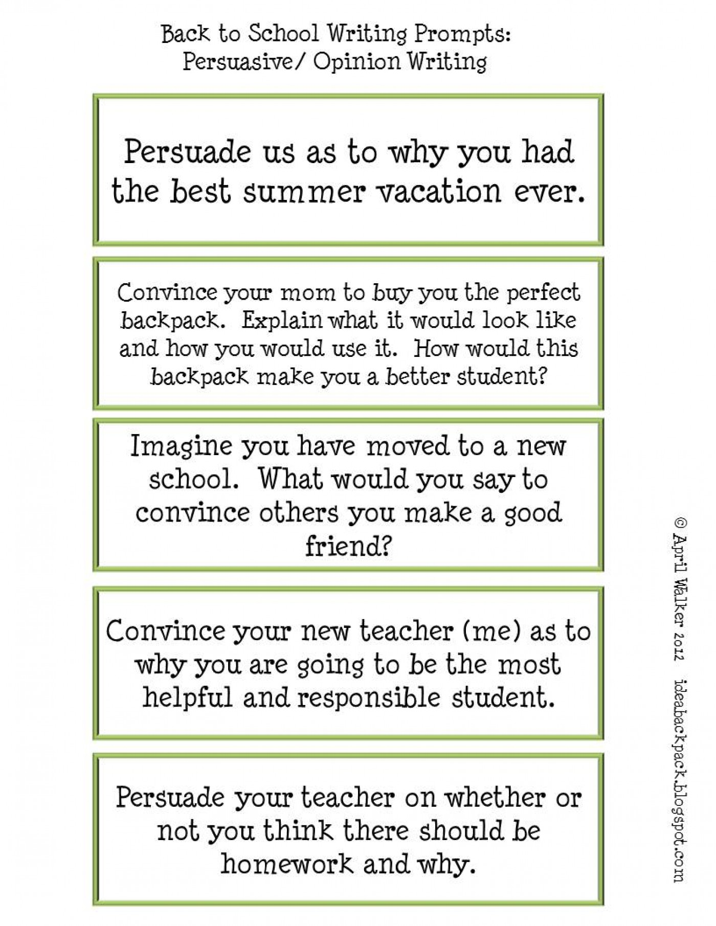 007 Favorite Time Period Expository Writing Prompt Prompts