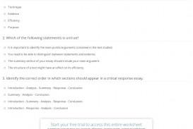 008 Quiz Worksheet Critical Response Essay Fantastic Example Pdf Good
